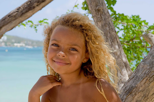 child-La-Marin-in-Martinique - A local child in the town and commune of La Marin in Martinique, which has attractions and activities for people of every age.