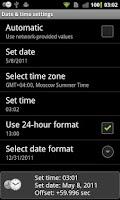 Screenshot of ClockSync