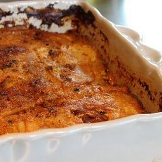 Celeriac Gratin with Cinnamon and Onion Confit Recipe