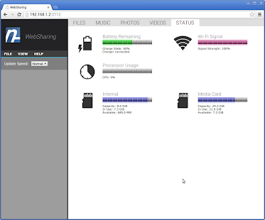 WebSharing (WiFi File Manager) - screenshot thumbnail