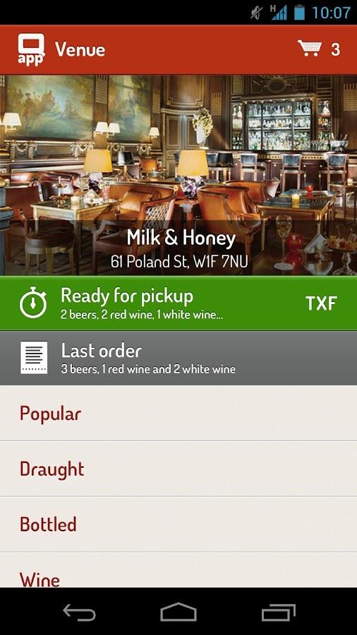 Q App - order ahead - screenshot