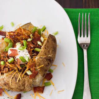 Barbecue Chicken Loaded Baked Potatoes.