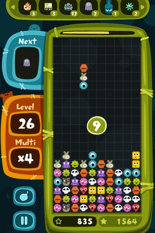 Monster Blocks (superb game)- screenshot