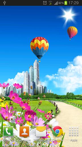 City blue sky Wallpaper HD