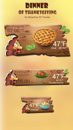 Dinner of Thanksgiving Theme