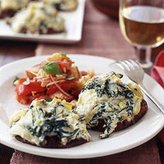 Stuffed Portobellos with Bread Salad.