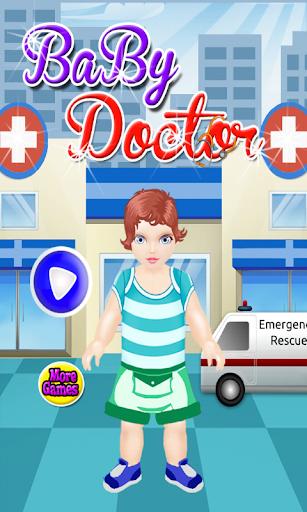 嬰兒護理的醫生遊戲