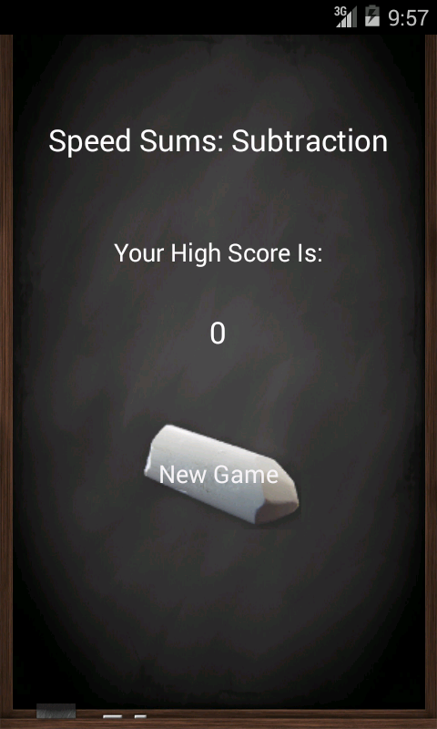 Speed Sums: Subtraction - screenshot