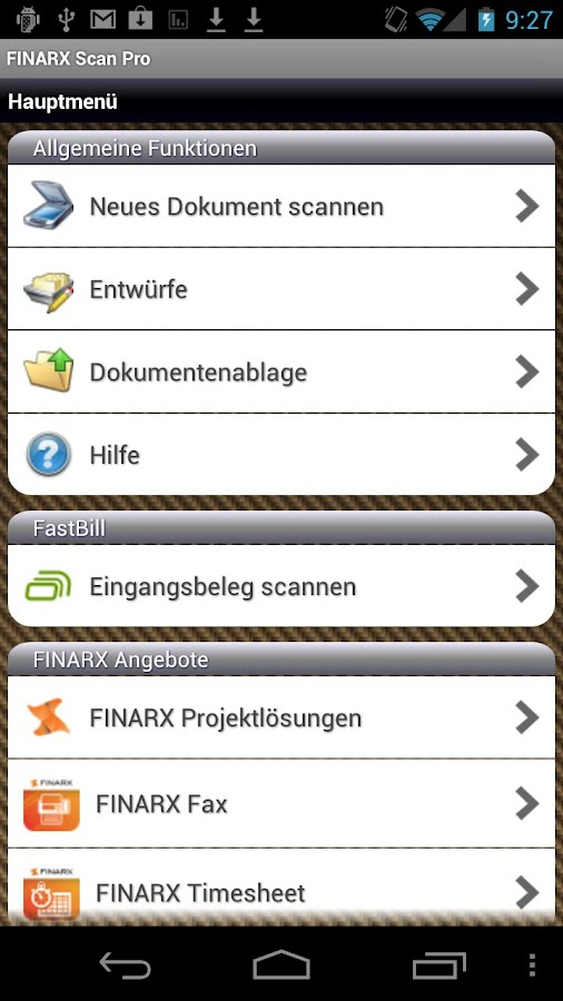 FINARX Scan Pro - screenshot