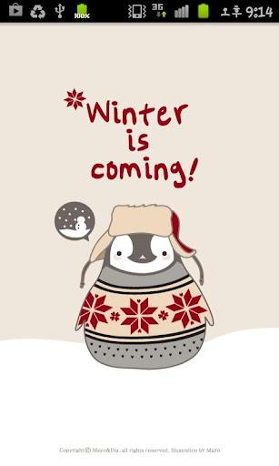 Pepe-winter kakaotalk theme