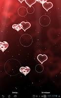 Screenshot of Hearts Live Wallpaper premium