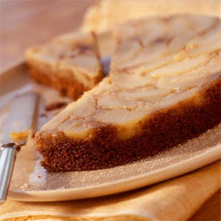 Pear Upside-Down Gingerbread Cake.