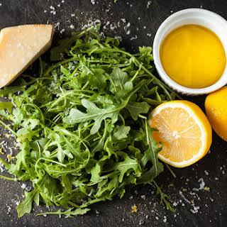 Baby Arugula Salad + Lemon Vinaigrette.