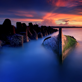 Unidentified Object by Made Suwita - Landscapes Waterscapes ( bali, indonesia, sunset, kelan, beach )