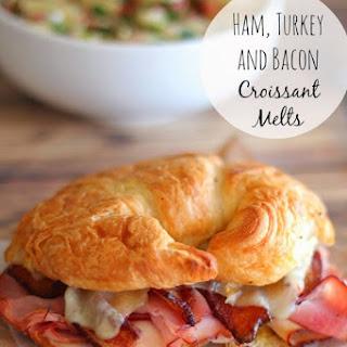 Ham, Turkey and Bacon Croissant Melts.