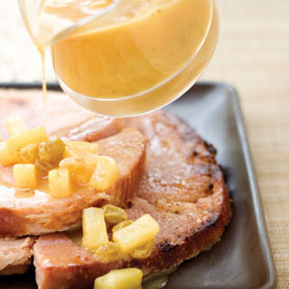 Ham Steak With Orange Glaze.