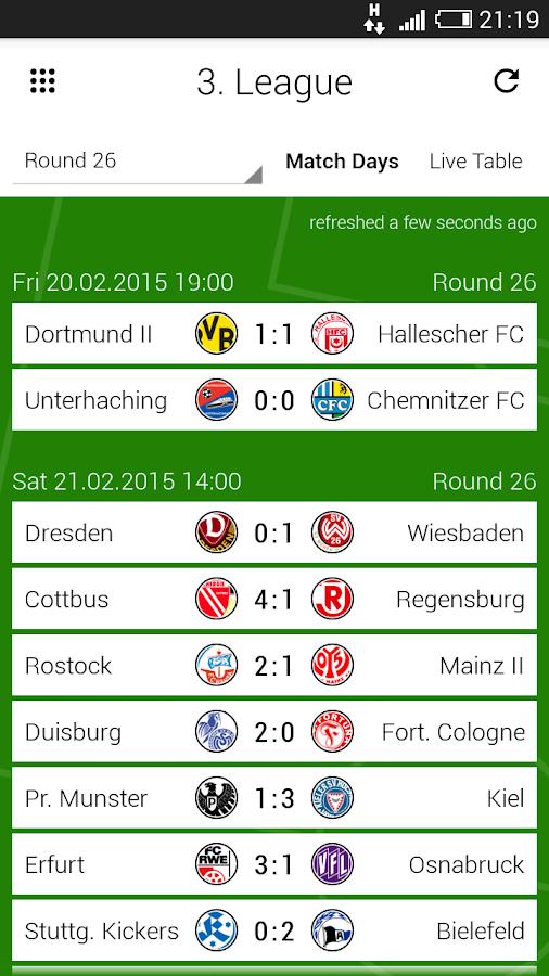 GoalAlert German Bundesliga- screenshot