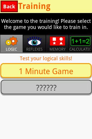 1 Minute Game (brain training)- screenshot
