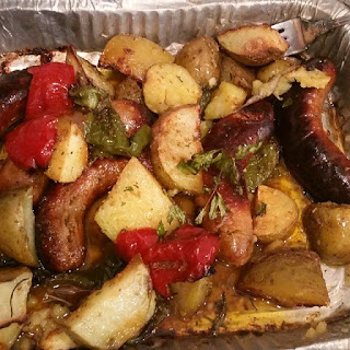 Baked Sausage Peppers and Potato Italian Classic.