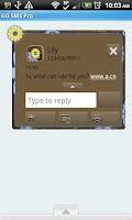 Screenshot of GO SMS THEME/BlueYellowFlowers