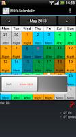 Screenshot of Shift Calendar (Shift Roster)