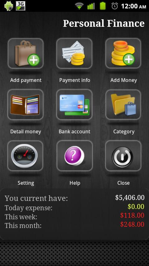 Personal Finance- screenshot