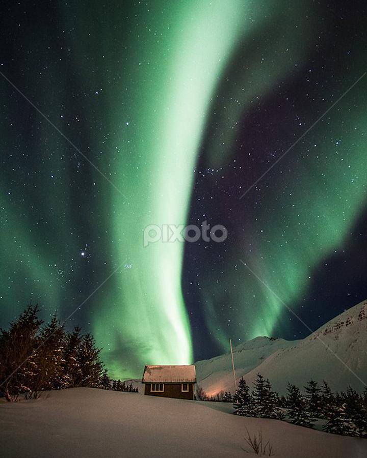 Northern lights by Frodi Brinks - Landscapes Weather ( iceland, color, northern lights, aurora )