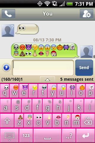 Emoticon (Smiley) Keyboard - screenshot