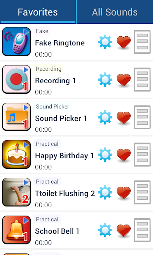 Daily life sound effects