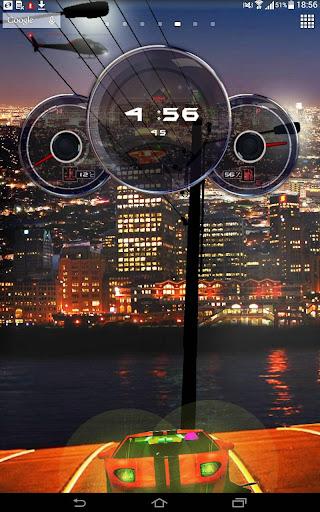 Car Clock Live Wallpaper