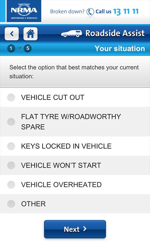 NRMA - screenshot