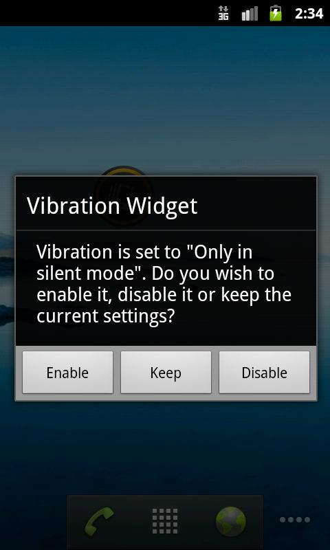 Vibration Widget - screenshot