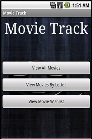 Movie Track (Free Edition) - screenshot