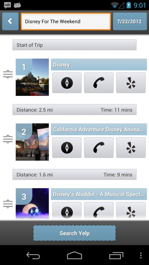 Trippin - Yelp Trip Planner- screenshot
