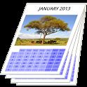 Printable wall calendar free icon