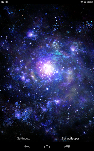 Fondo animado Núcleo galáctico para Android