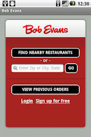 Screenshot of Bob Evans