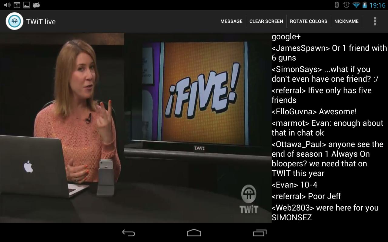 Nexus TWiT.tv Live- screenshot