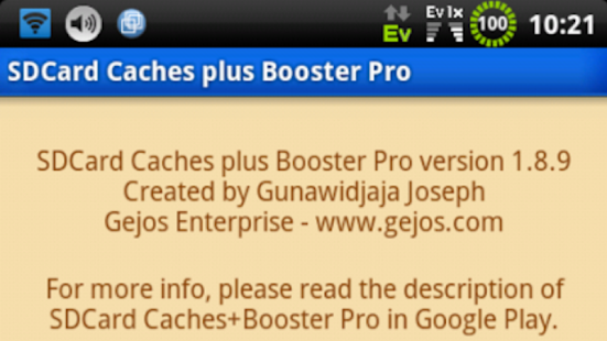 SDCARD CACHES PLUS BOOSTER PRO