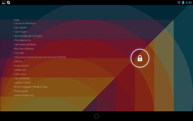 Minimal Any.do Widget - screenshot