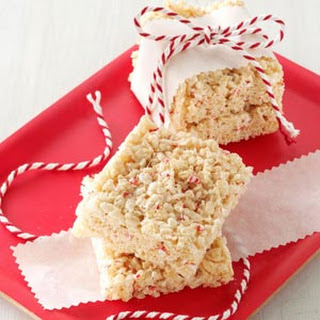 Peppermint Cereal Squares