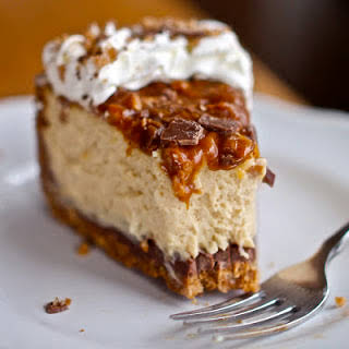 Caramel Toffee Cheesecake No Bake Recipes.