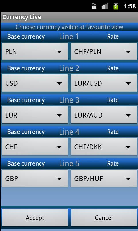 Live forex rates for my website