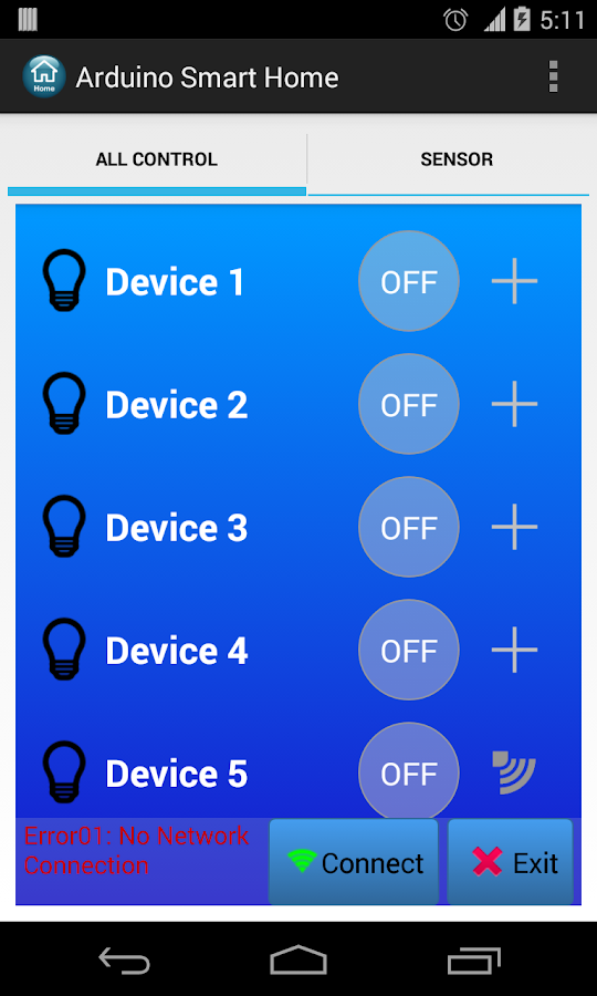 Arduino Smart Home Automation- screenshot