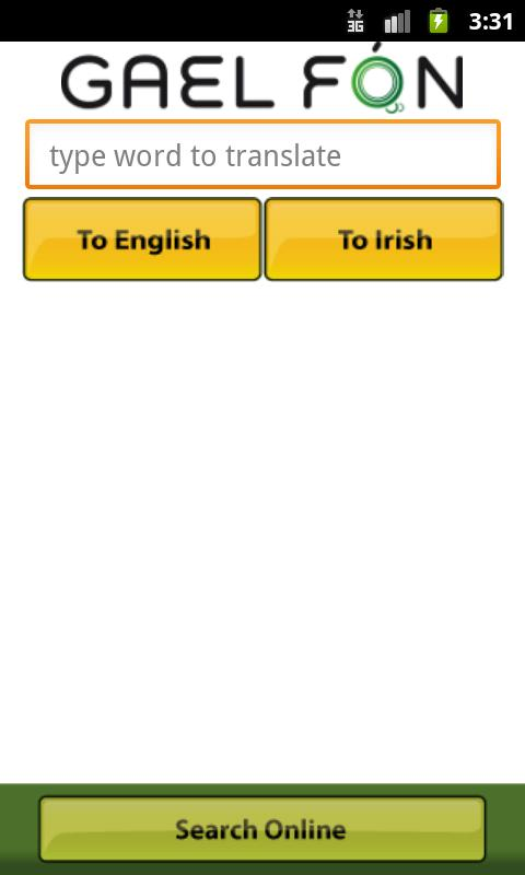Gaelfon FREE Irish Translator- screenshot