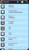 Screenshot of English German