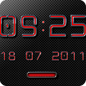 NEON RED Digital Clock