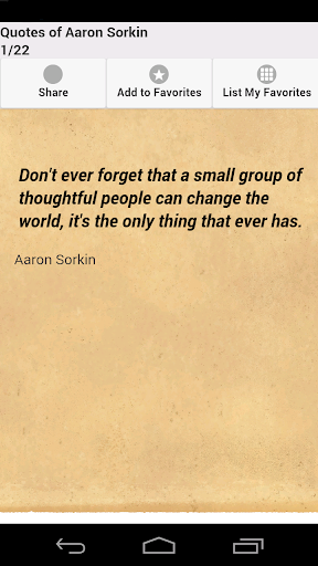Quotes of Aaron Sorkin