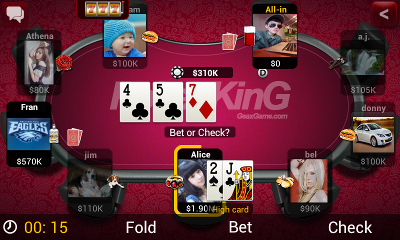 poker king texas holdem geaxgame