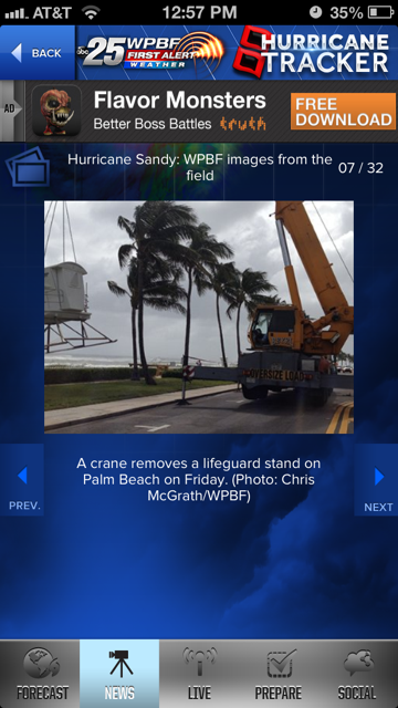 Hurricane Tracker WPBF 25 - screenshot